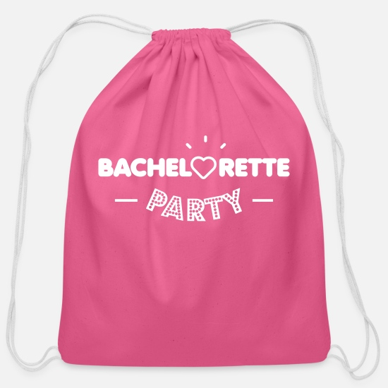 Bachelorette Bags & Backpacks - Bachelorette party - Cotton Drawstring Bag pink