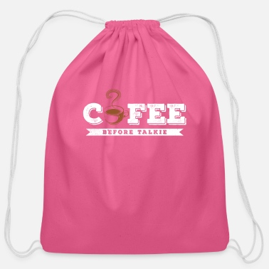 Coffee funny Design - Cotton Drawstring Bag