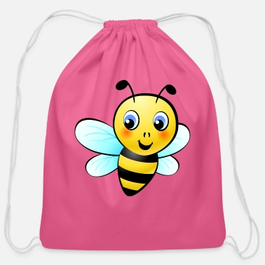 Honey Honey bee - Cotton Drawstring Bag