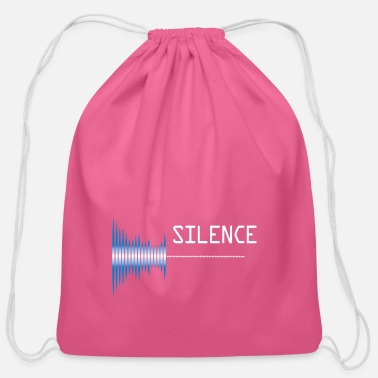 Sounds Sound silence Sound pollution - Cotton Drawstring Bag