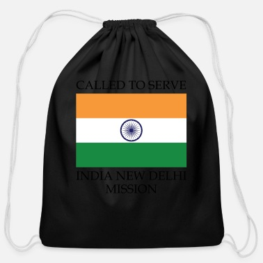 India India New Delhi LDS Mission Called to Serve Flag - Cotton Drawstring Bag
