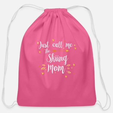 Saalbach Just Call Me The Sports Skiing Mom funny gift - Cotton Drawstring Bag