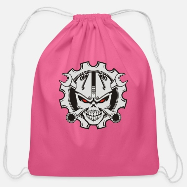Motor motor skull - Cotton Drawstring Bag