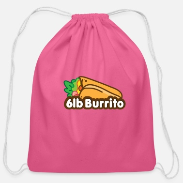 Horizontal Horizontal Burrito - Cotton Drawstring Bag