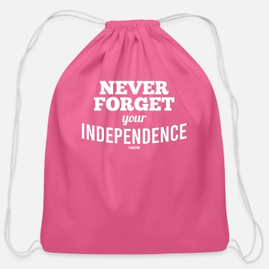 Freedom Fourth of July Independence Day USA - Cotton Drawstring Bag