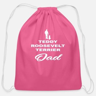 DAD VATER PAPA DOG HUND TEDDY ROOSEVELT TERRIER - Cotton Drawstring Bag 6ffdb451b33a