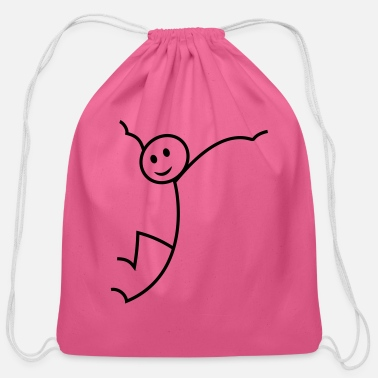 Stick Figure stick figure - Cotton Drawstring Bag