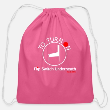 Turn On To Turn On - Cotton Drawstring Bag