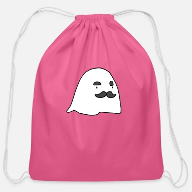 Cool-cute-stylish-mustaches Herbert The Ghost - Cotton Drawstring Bag