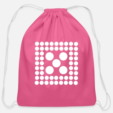Quadrat Pattern - Shape - Form - Circle - Quadrat - 2 - Cotton Drawstring Bag