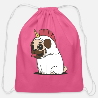 Pug Love - Cotton Drawstring Bag