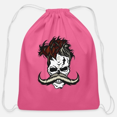 Ast skull hipster fish mustache sign tiger chinese ast - Cotton Drawstring Bag
