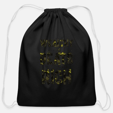 Wealthy Wealthy beats rich - Cotton Drawstring Bag