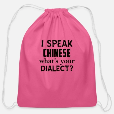 Dialect CHINESE dialect - Cotton Drawstring Bag