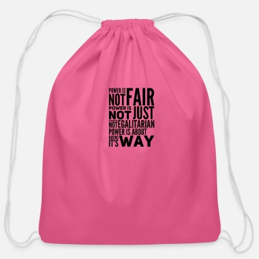Fair Not Fair - Cotton Drawstring Bag