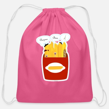 French Fries So Very French Fries - Cotton Drawstring Bag
