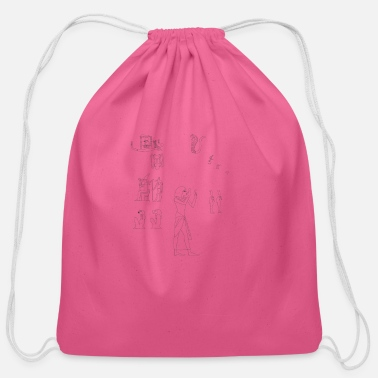 Hieroglyphics hieroglyphes - Cotton Drawstring Bag
