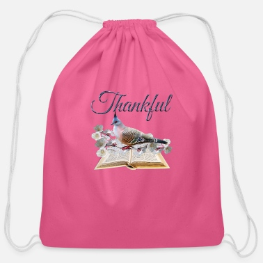 Cool Be Thankful. Be a Cool Christian. - Cotton Drawstring Bag