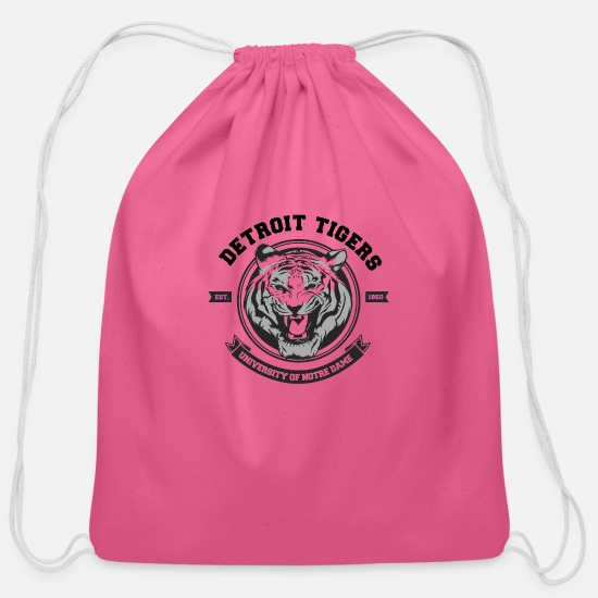 College Bags & Backpacks - Detroit Tigers - Cotton Drawstring Bag pink