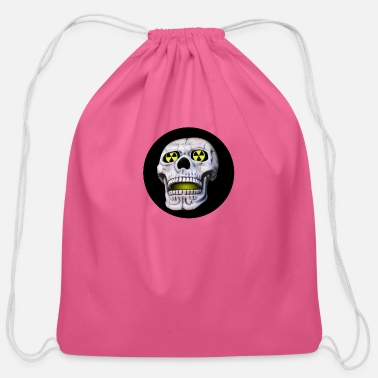 Nuclear nuclear skull - Cotton Drawstring Bag