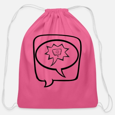 Speech Bubble Speech Bubbles - Cotton Drawstring Bag