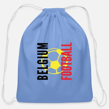 Championship Belgium Football flag - Cotton Drawstring Bag
