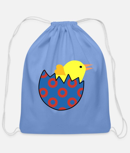 Phish Chick Bags & Backpacks - Phish Chick Women's Phish Shirts and Accessories - Cotton Drawstring Bag carolina blue