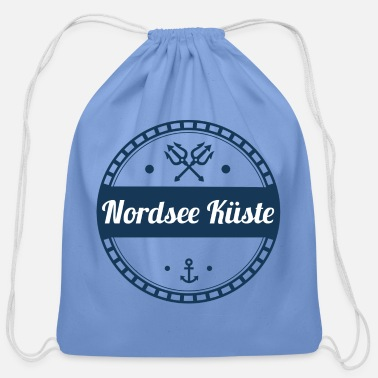 North Sea north sea coast,coast,sea,baltic,north - Cotton Drawstring Bag