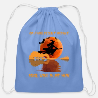 Desert Highway on a dark desert highway - Cotton Drawstring Bag