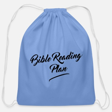 Jesus Bible Reading Plan - Cotton Drawstring Bag