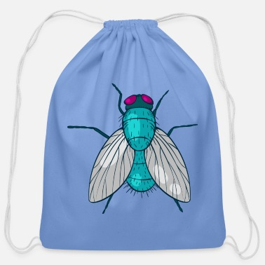 Fly Fly housefly insect Muscidae - Cotton Drawstring Bag