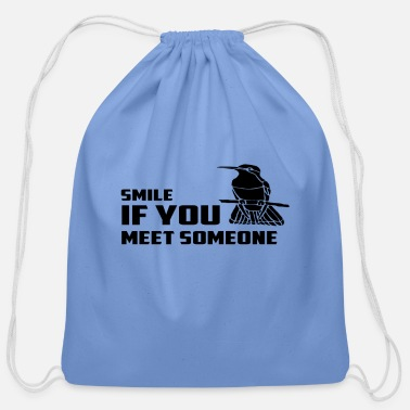 SMILE - Cotton Drawstring Bag