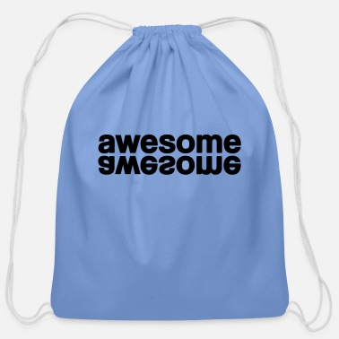 Awesome awesome - Cotton Drawstring Bag