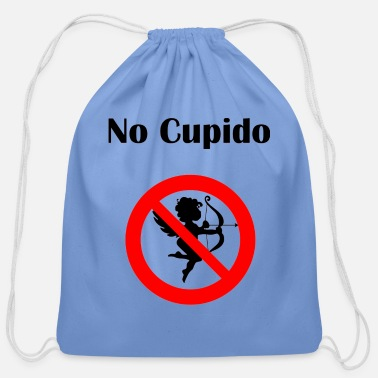 Cupido No Cupido Stay away Fun Anti-Valentine's-Day gift - Cotton Drawstring Bag