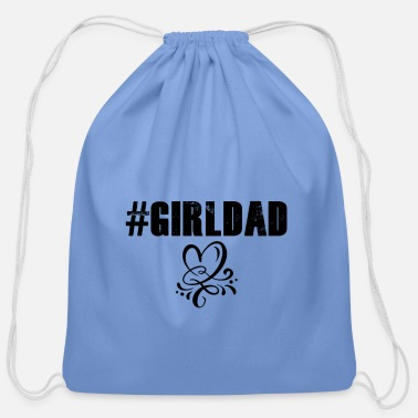 #girldad with a heart - Cotton Drawstring Bag