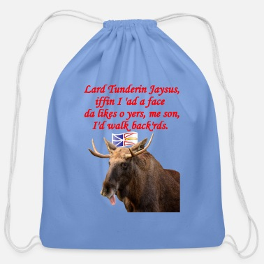Moose NEWFIE WALK BACKWARDS - Cotton Drawstring Bag
