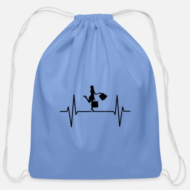 Shopping Shopping Heartbeat - Cotton Drawstring Bag