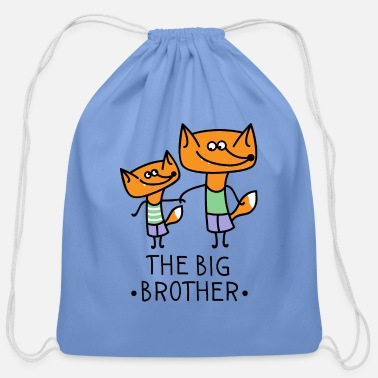 Little The big brother- Fox - Cotton Drawstring Bag
