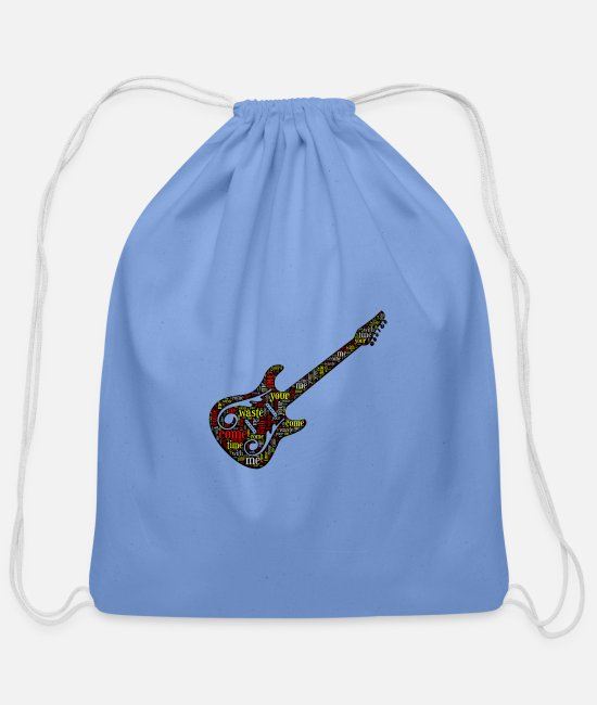 Anastasio Bags & Backpacks - Phish Shirt Waste Lyrics Phish Guitar Apparel - Cotton Drawstring Bag carolina blue