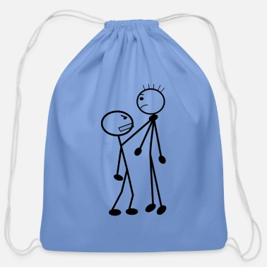 Stick Stick man, stick fight - Cotton Drawstring Bag