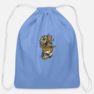 Lion Coat Of Arms Lion Family Coat of Arms - Cotton Drawstring Bag