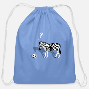 Zebra zebra and football - Cotton Drawstring Bag