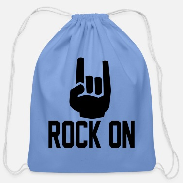 Record rock on Hands3 - Cotton Drawstring Bag