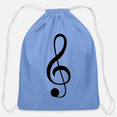 Music Music symbol clef treble clef - Cotton Drawstring Bag