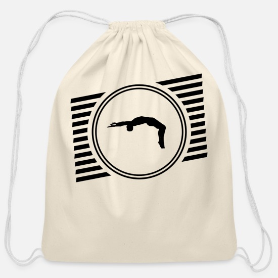 Illustration Bags & Backpacks - Jump! - Cotton Drawstring Bag natural