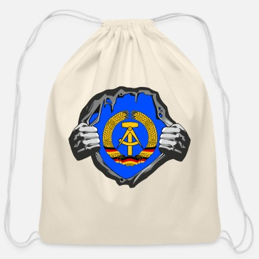 East Berlin GDR / DDR Breast / Gift East Germany East Berlin - Cotton Drawstring Bag