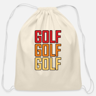 Golf Golf Golf Golf - Cotton Drawstring Bag