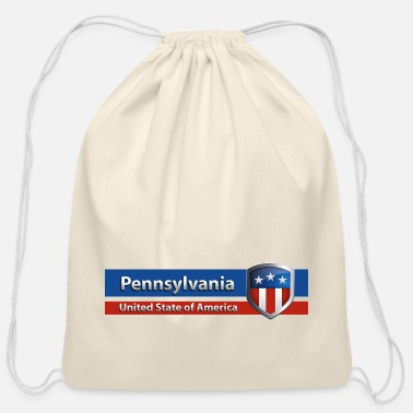 Pennsylvania - United State of America - Cotton Drawstring Bag