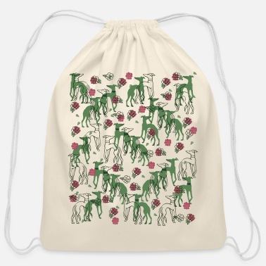 Greyhound Greyhounds - Cotton Drawstring Bag
