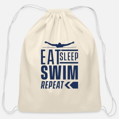 Swim Swimming Swimming Swimming Swimming - Cotton Drawstring Bag